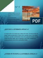 GRUPO N° 5 - ENERGÍA EÓLICA