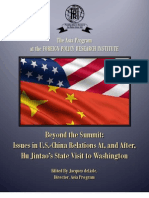 Cooke Article in FPRI Collection on Hu State Visit (Jan 2011)