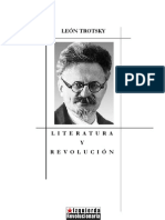 Trosky - Literatura y revolución