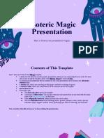 Esoteric Magic by Slidesgo