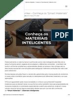 """Materiais inteligentes - Conheça os """"Smart Materials"""" _ Materiais Júnior"""
