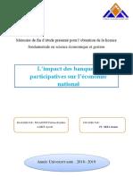 Pfe l Impact Des Banques Participatives Sur l Econonal Version Finale..