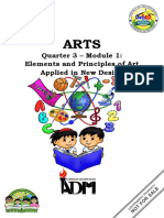 Arts6_Q3_Mod1_Elements and Principles of Art Applied in New Design