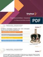 Caracterização de minerais 1.1.0- História mineral no Brasil
