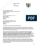 Letter From Minister Lecce Re Vaccination - March 26 2021 En