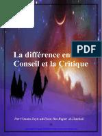 La Difference Entre Le Conseil Et La Critique