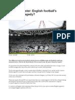 Heysel disaster - English football's forgotten tragedy