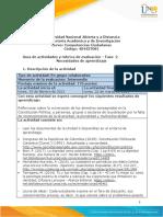 Guía de Actividades y Rúbrica de Evaluación - Unidad 2 - Fase 2 - Necesidades de Aprendizaje
