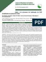 Avaliação da fotoatividade e do processo de reativação do ZnO imobilizado em placas de vidro