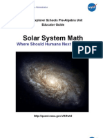 NASA Solar System Math Educator Guide