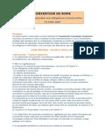 Conv Rome 1980_Loi Applicable Aux Contrats !!