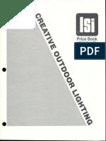 LSI Outdoor Lighting Price Book 1981