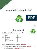 Umwelt Infinitiv Mit Zu