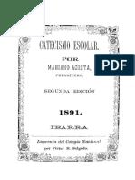 Catecismo escolar 1891 (Mariano Acosta)