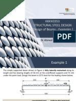 KKKH3353- Structural Steel design - Design of Beams - Examples - W3