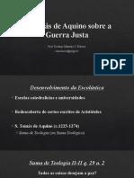 07 S. Tomás de Aquino sobre a guerra justa