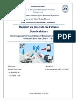 développement d'un systeme de localisation et de suivi des véhicules base sur GPS et GSM