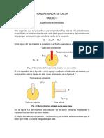 Superficies extendidas UNIDAD 4 TRANSFERENCIA DE CALOR
