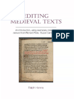 Ralph Hanna - Editing Medieval Texts_ An Introduction, Using Exemplary Materials Derived from Richard Rolle, _Super Canticum_ 4-Liverpool University Press (2015)