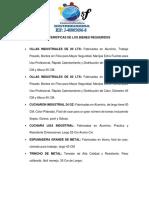 CARACTERISTICAS DE BIENES REQUERIDOS COCINA