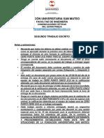 SEGUNDO TRABAJO ESCRITO DE COMUNICACIONES ÓPTICAS