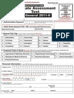 GAT Form (GAT Gen 2011-II) (1)