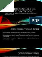 8 elementos factores desarrollo económico