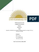 Perfil de Proyecto de Grado CARRERA de SISTEMAS