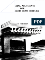 Integral Abutments for Prestressed Beam bridges