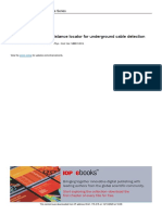 Development of fault distance locator for underground cable detection