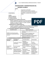 SÍLABO DE ORGANIZACIÓN Y ADMINISTRACION DEL SOPORTE TECNICO