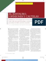 Fernández, A. El restauro, opiniones y cautelas. 2008