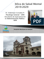 Política Pública Salud Mental - Fómeque, Cundinamarca