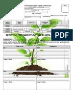 informe crecimiento de una planta.