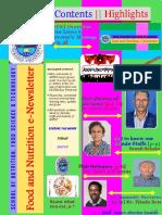 Food & Nutrition Newsletter Vol. 1 Issue 2, Hawassa University