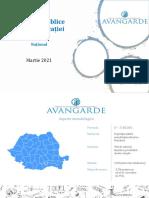 """Sondajul Avangard """"Percepții publice asupra educației"""" - Martie 2021"""