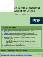 unit 7 - lesson 1 - introduction to firms industries and market structures