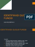 IDENTIFIKASI GUGUS FUNGSI
