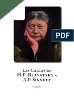 Blavatsky, Helena - Cartas de H.P.B. a Alfred Sinnett