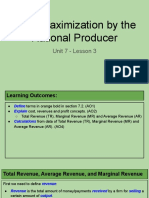 unit 7 - lesson 3 - profit maximization by the rational producer