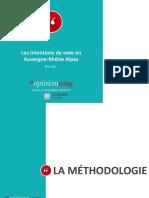 OpinionWay - Intentions de vote en Auvergne Rhône Alpes - Mars 2021