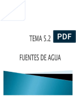 TEMA 5.2  FUENTES DE AGUA