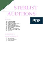 Masterlist Auditions