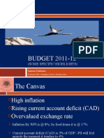 Indian Financial Budget 2011-12