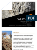 Weatherly WTI Investor Presentation