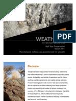 Weatherly WTI Investor Presentation