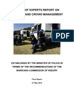 Panel of experts report on policing and crowd management