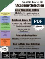 career academy selection