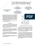 Caracterization and Rheological Behaviour of a Used Insulating Oil and a Transformer Sludge