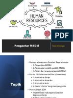 Pengantar HRM